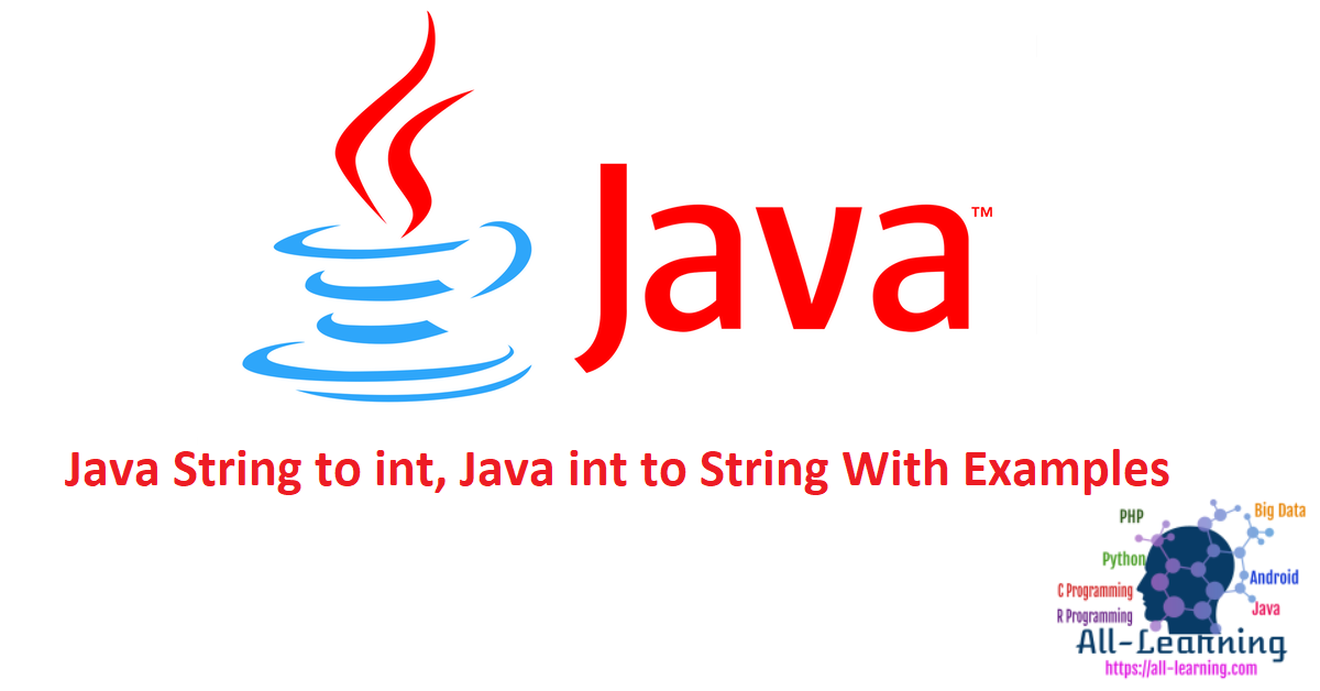 Java String to int, Java int to String With Examples