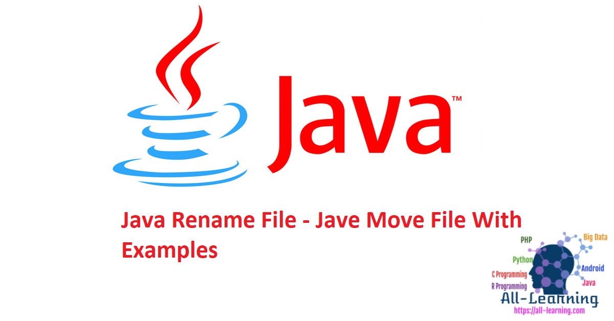 Java Rename File - Jave Move File With Examples