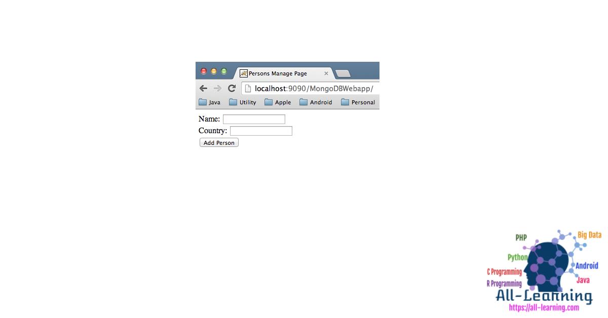 MongoDB-Web-Application-Home