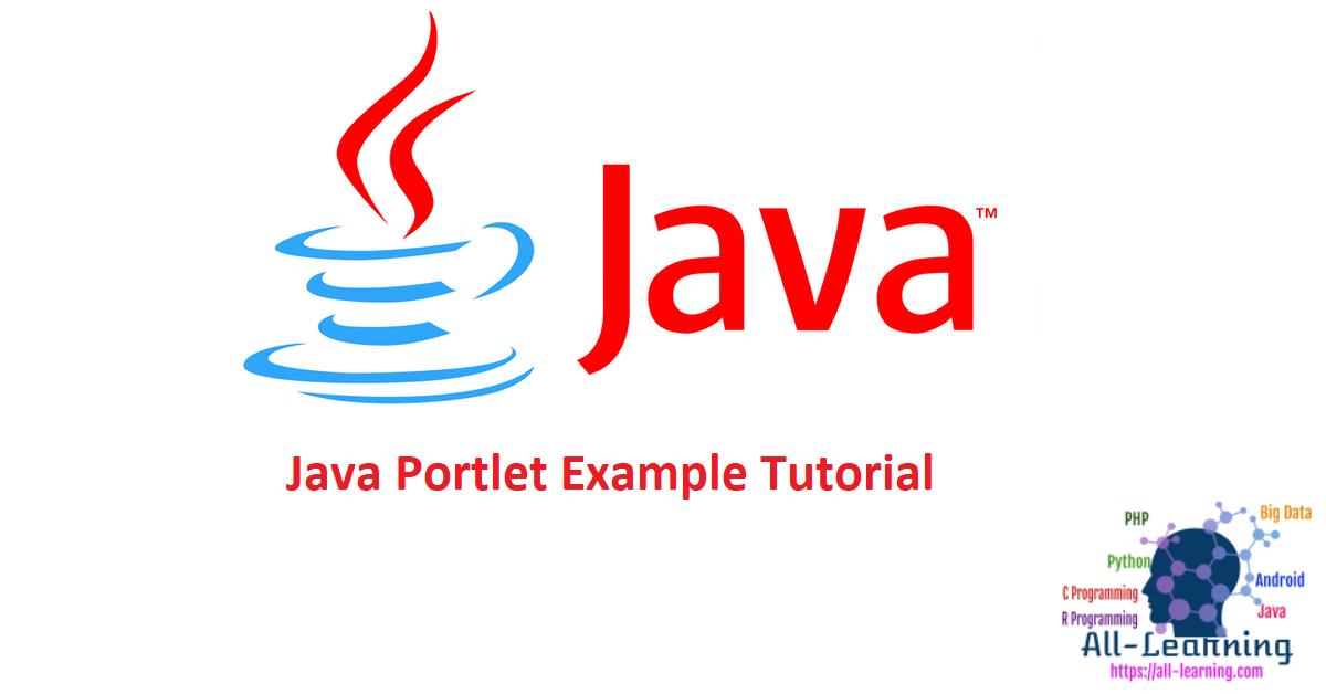 Java Portlet Example Tutorial