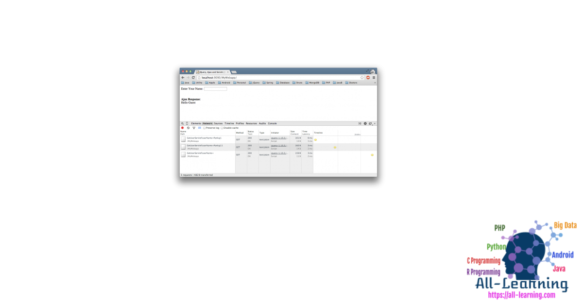jQuery-AJAX-Java-Web-Application