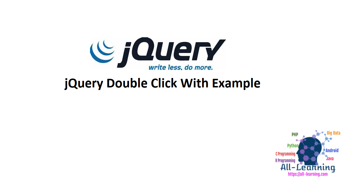 jQuery Double Click With Example