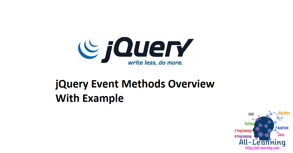 jQuery Event Methods Overview With Example