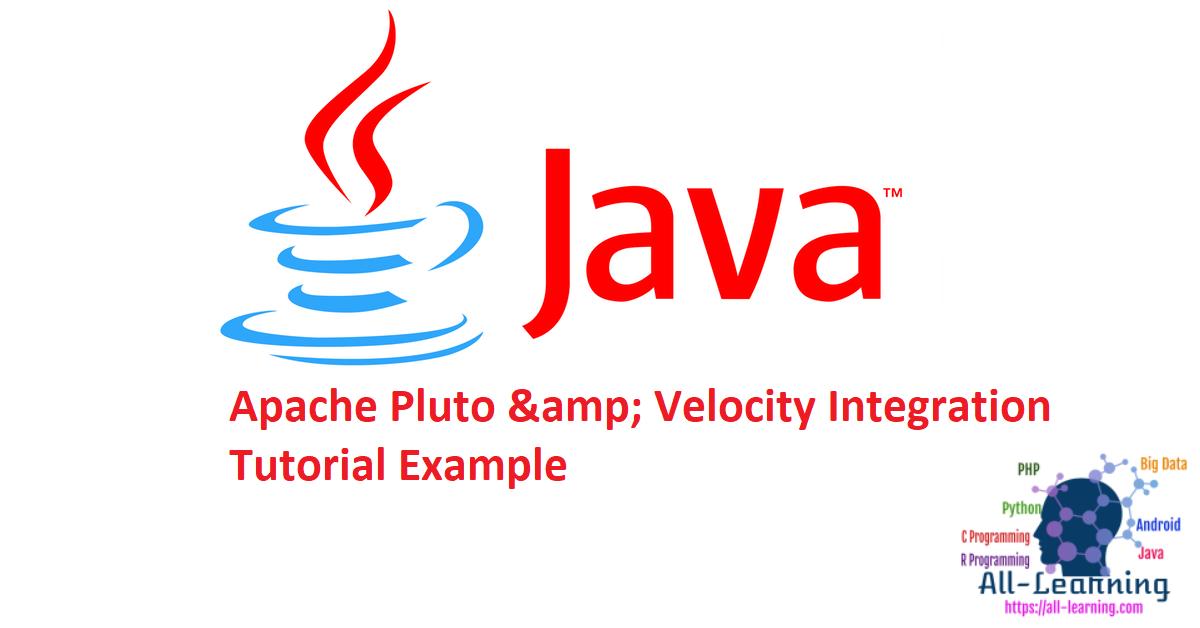 Apache Pluto & Velocity Integration Tutorial Example