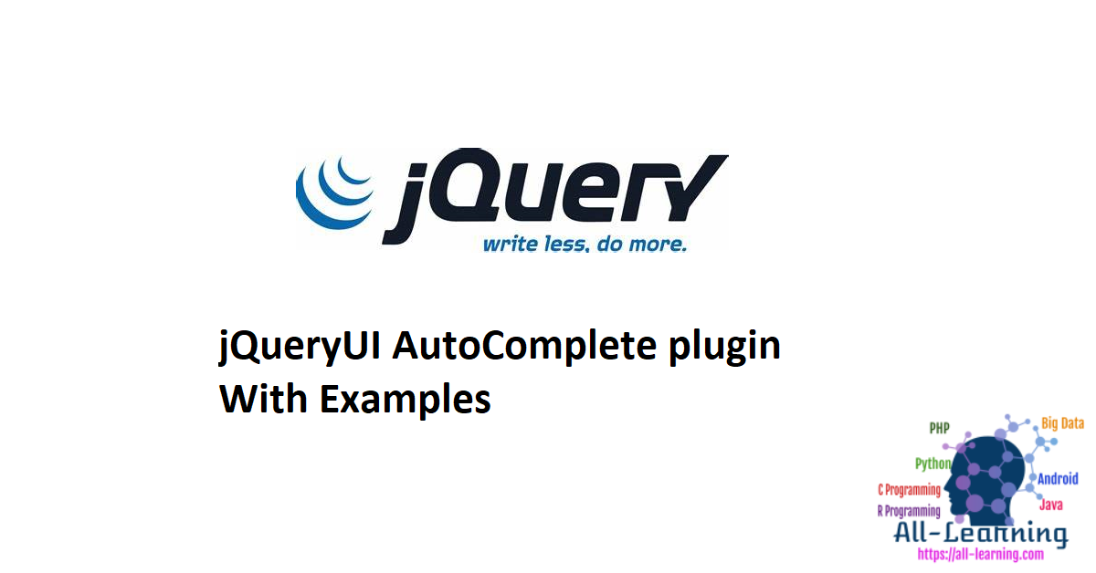 jQueryUI AutoComplete plugin With Examples