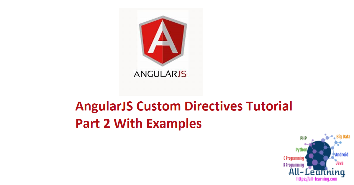 AngularJS Custom Directives Tutorial Part 2 With Examples