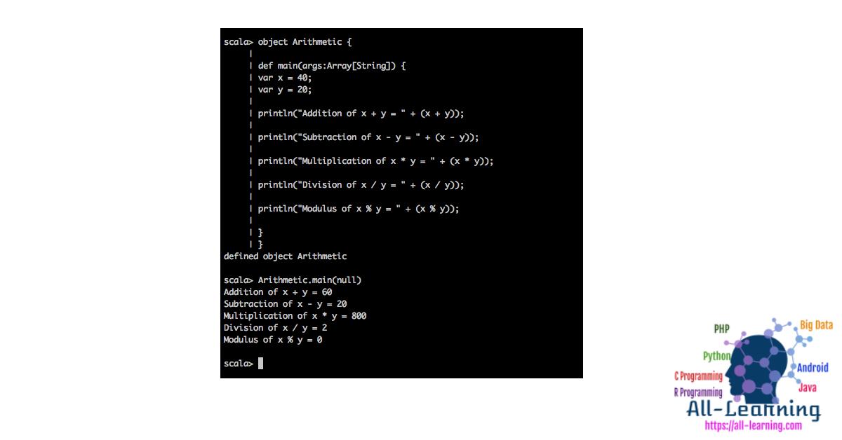 Scala-Arithmetic-Operator