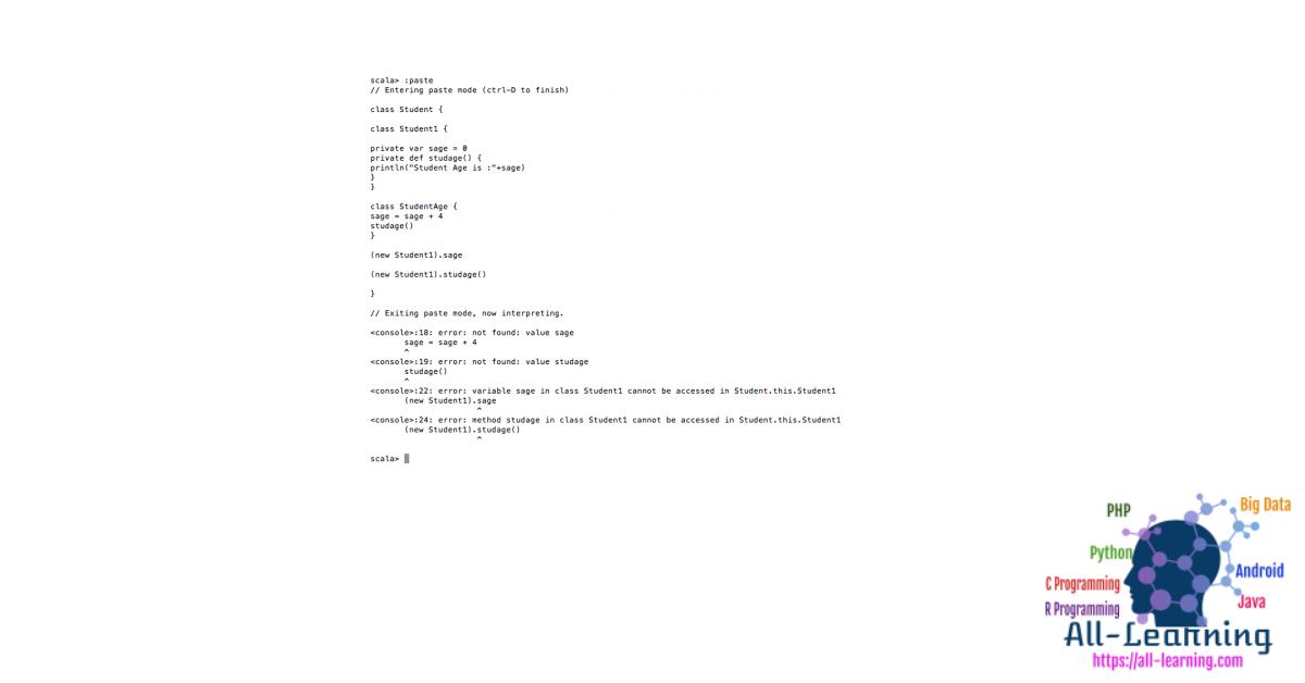 Scala-private-access-modifier
