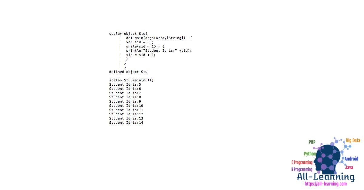 Scala-while-loop