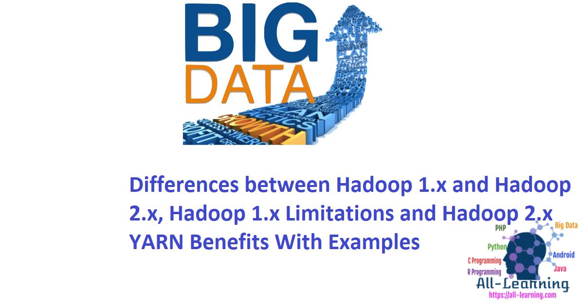 Differences between Hadoop 1.x and Hadoop 2.x, Hadoop 1.x Limitations and Hadoop 2.x YARN Benefits With Examples