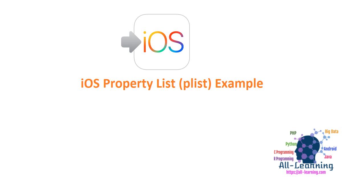 iOS Property List (plist) Example