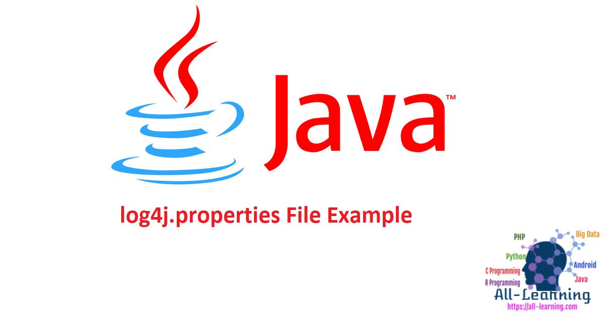 log4j.properties File Example