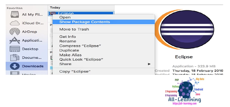 eclipse.ini-file-location-mac