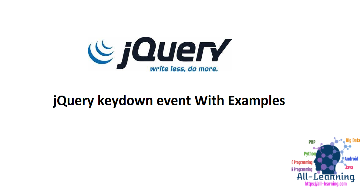 jQuery keydown event With Examples