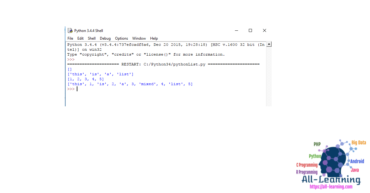 list Example Declare