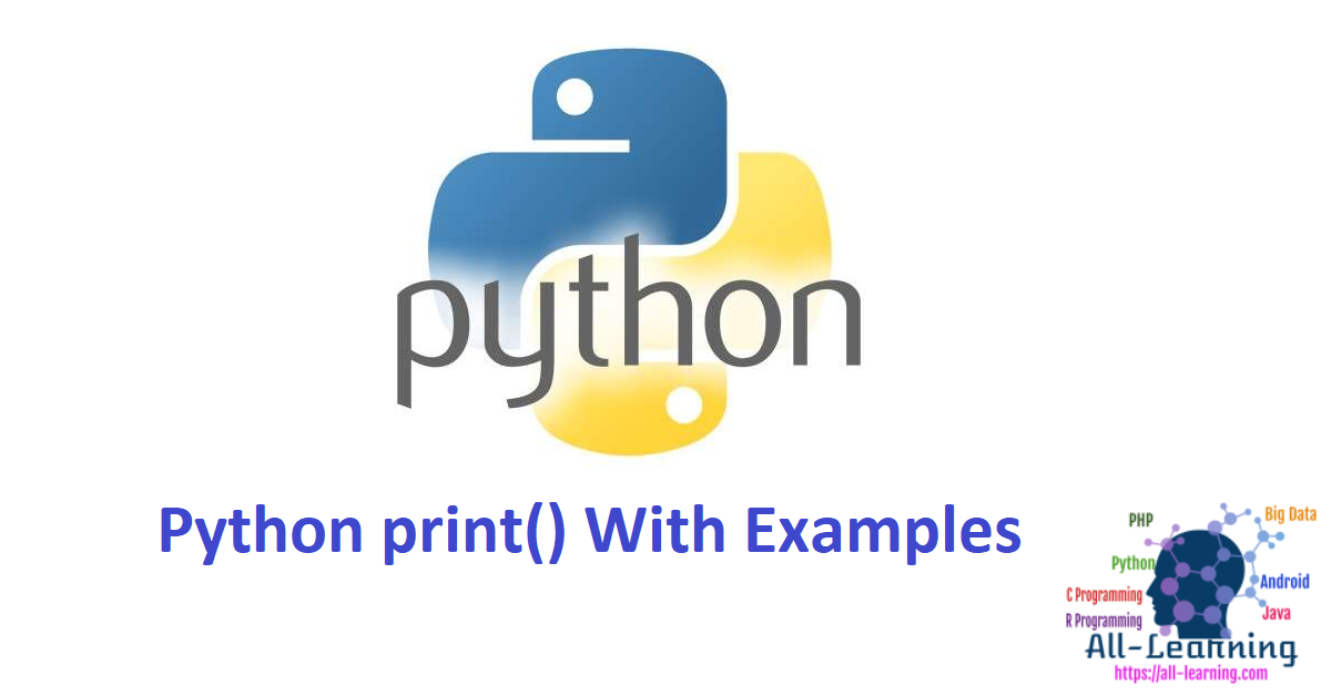 Python print() With Examples