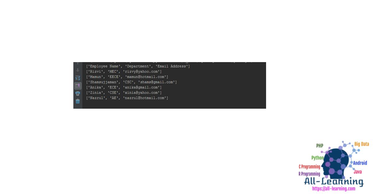 Python CSV Read Write
