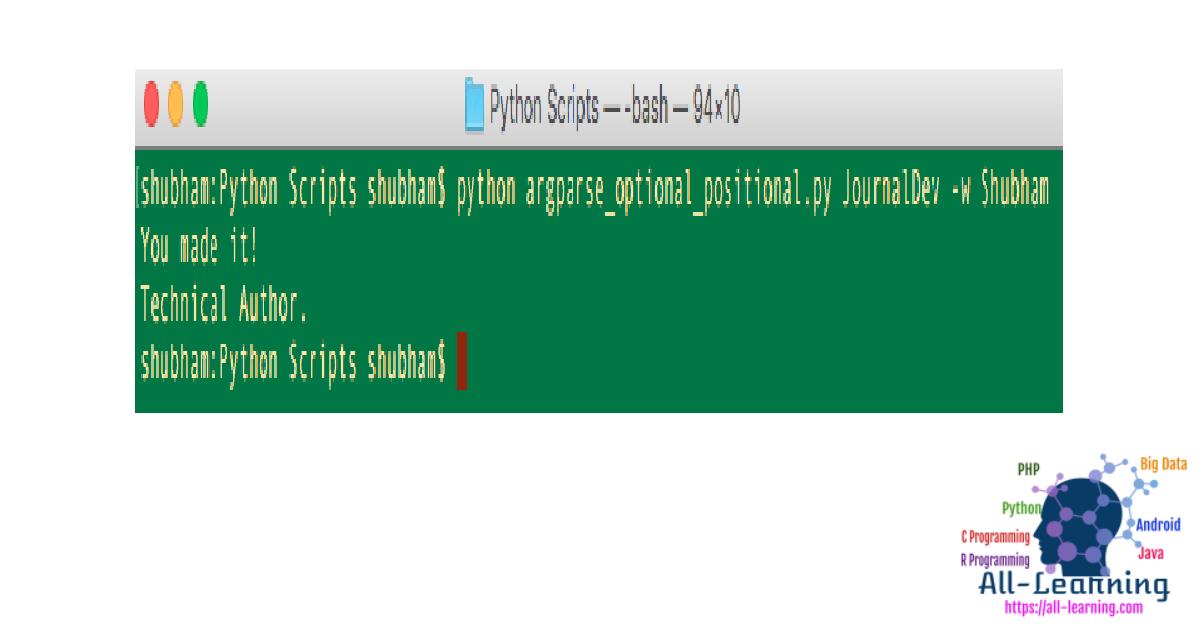Python argparse