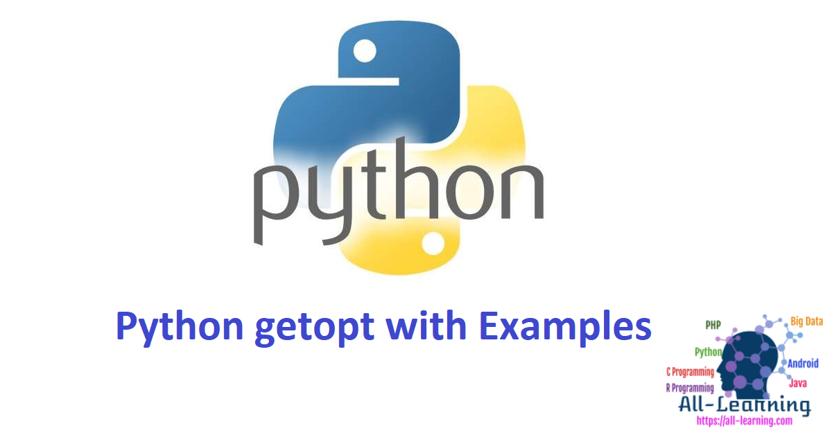 Python getopt with Examples