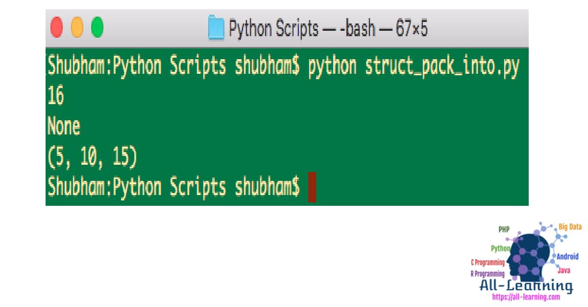 Python struct pack, unpack