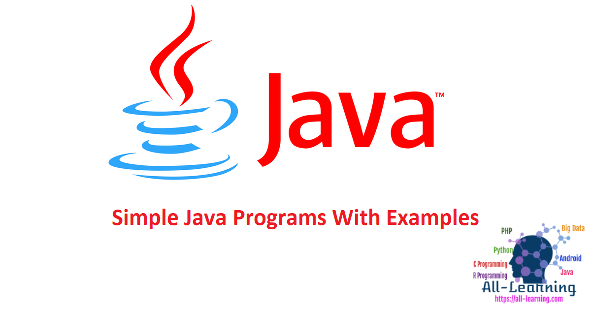 Simple Java Programs With Examples