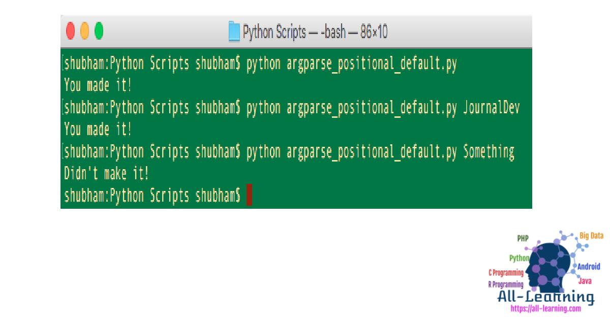 python argparse example