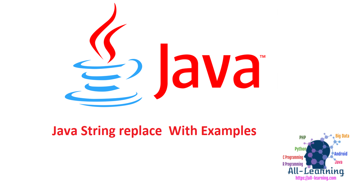 Java String replace With Examples