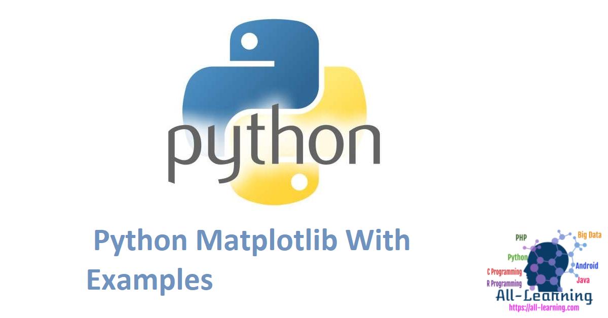 Python Matplotlib With Examples