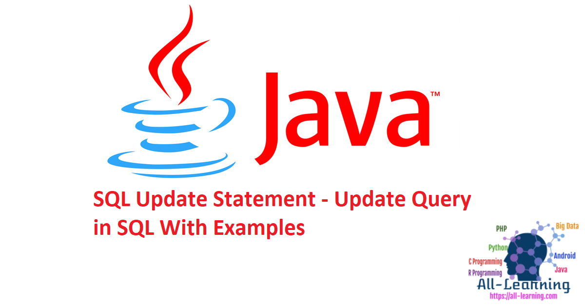 SQL Update Statement - Update Query in SQL With Examples