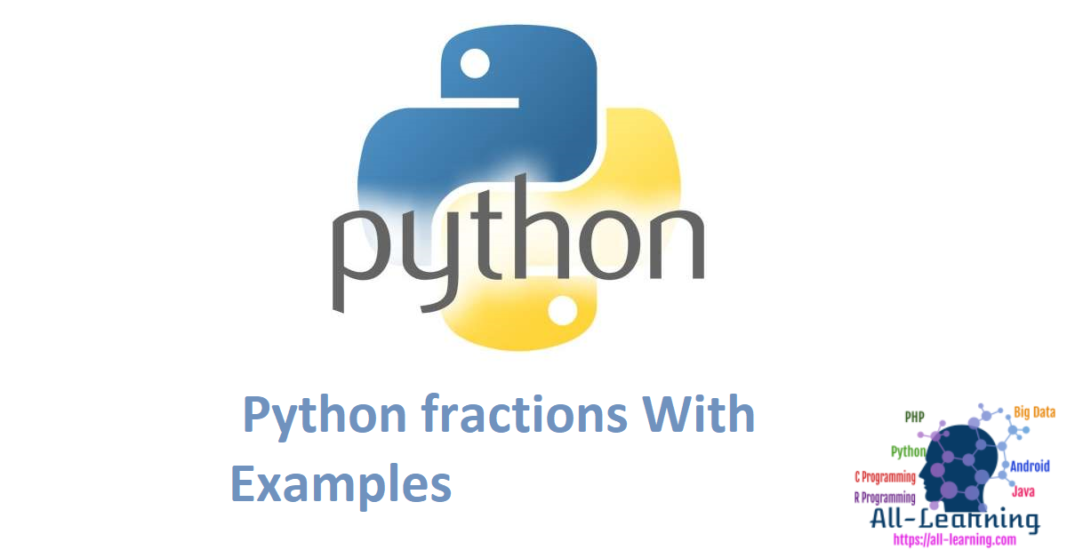 Python fractions With Examples