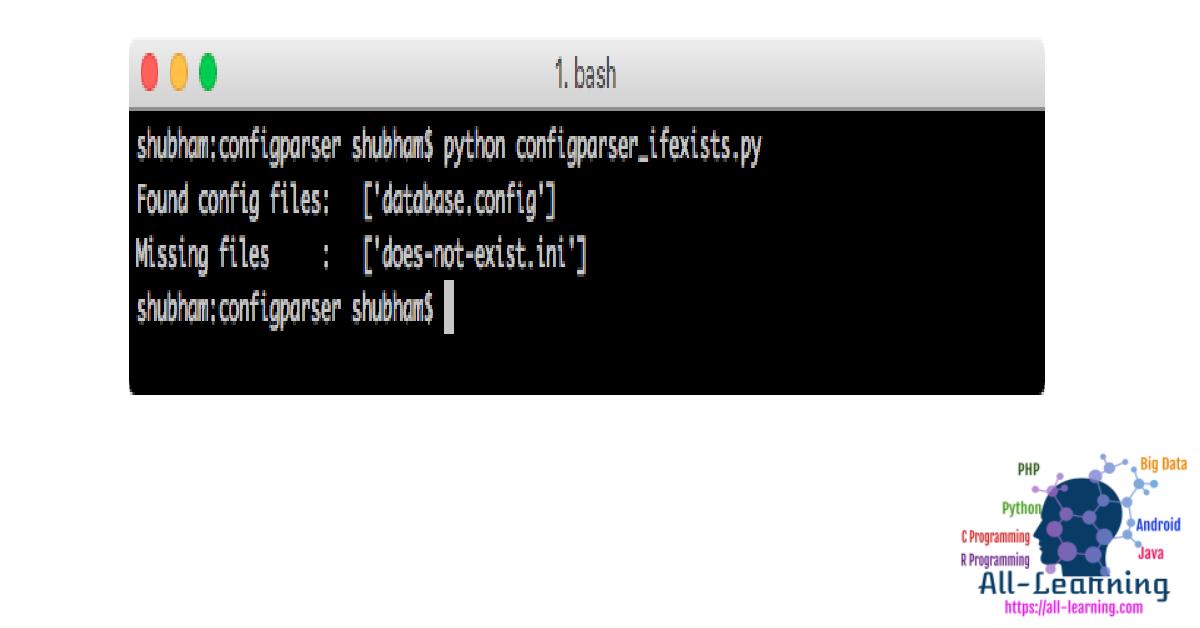 python-configparser-ifexists