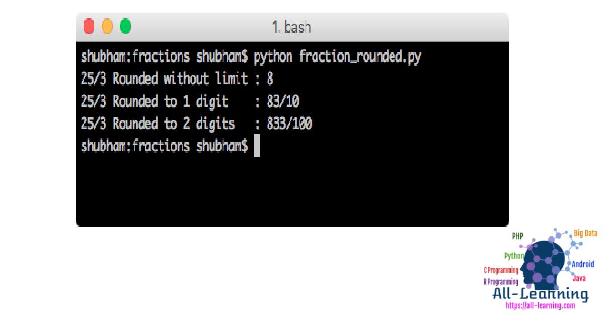 python-fraction-round