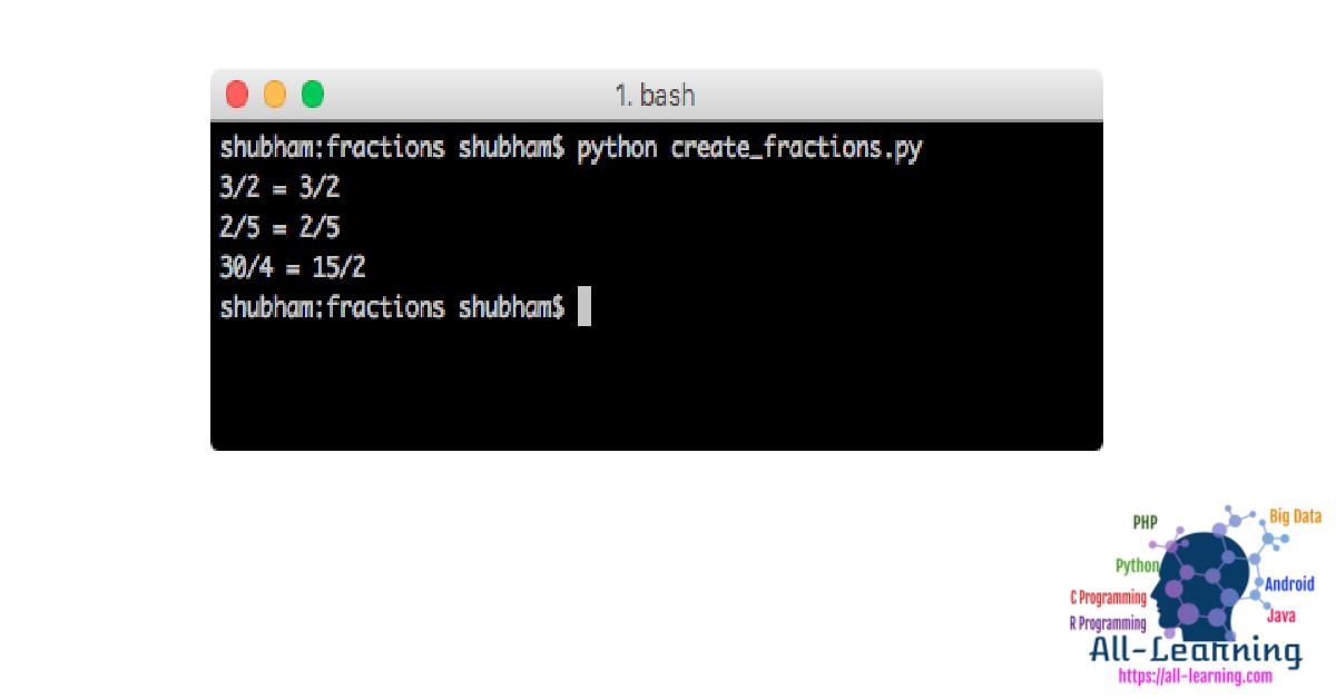 Python fractions