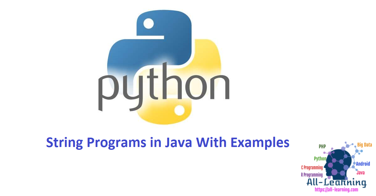 String Programs in Java With Examples