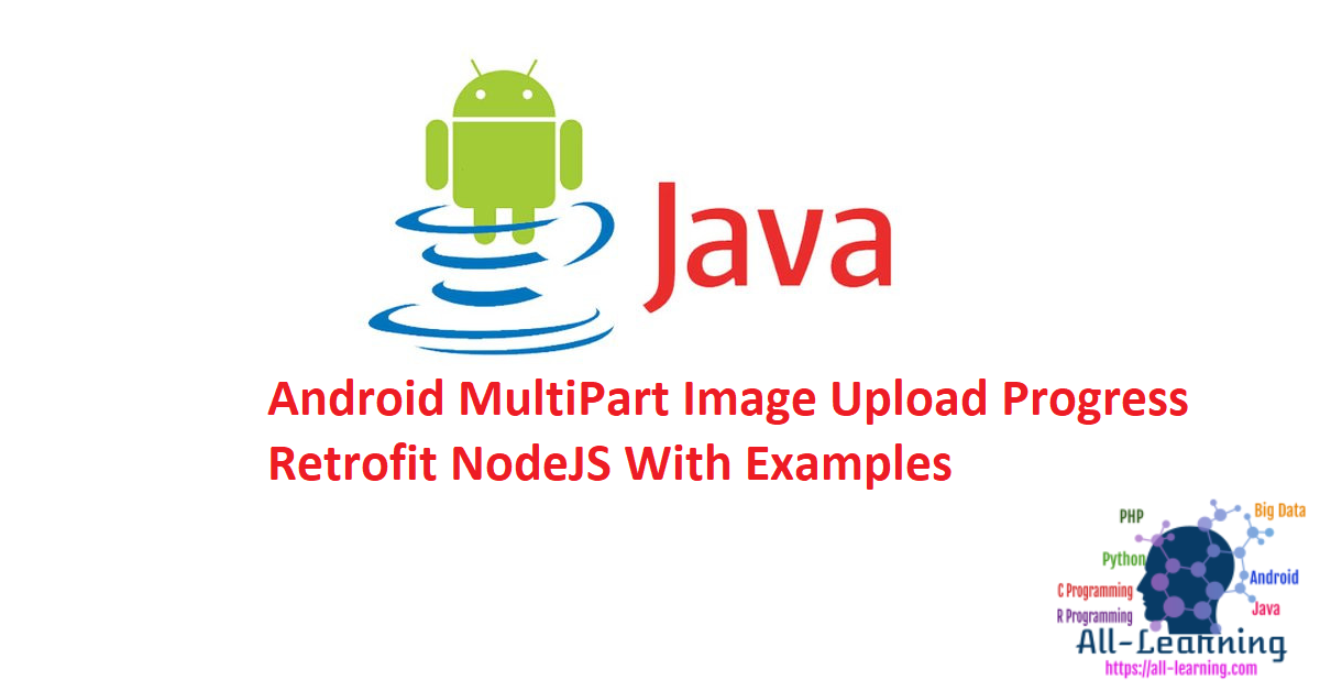 Android MultiPart Image Upload Progress Retrofit NodeJS With Examples