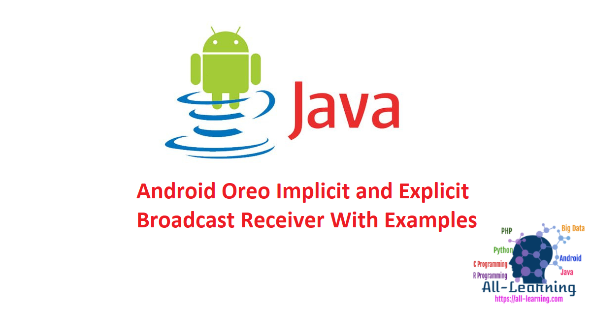 Android Oreo Implicit and Explicit Broadcast Receiver With Examples