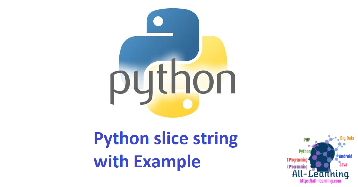 Python slice string with Example