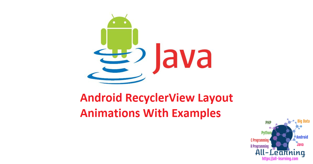 Android RecyclerView Layout Animations With Examples