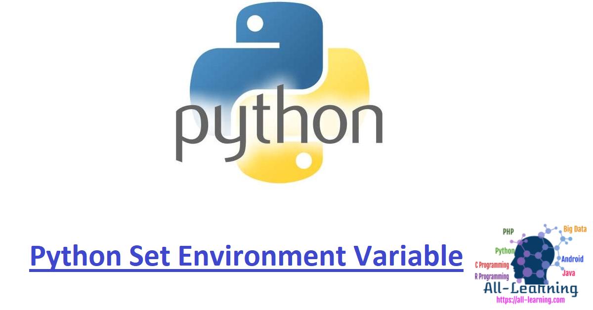 Python Set Environment Variable