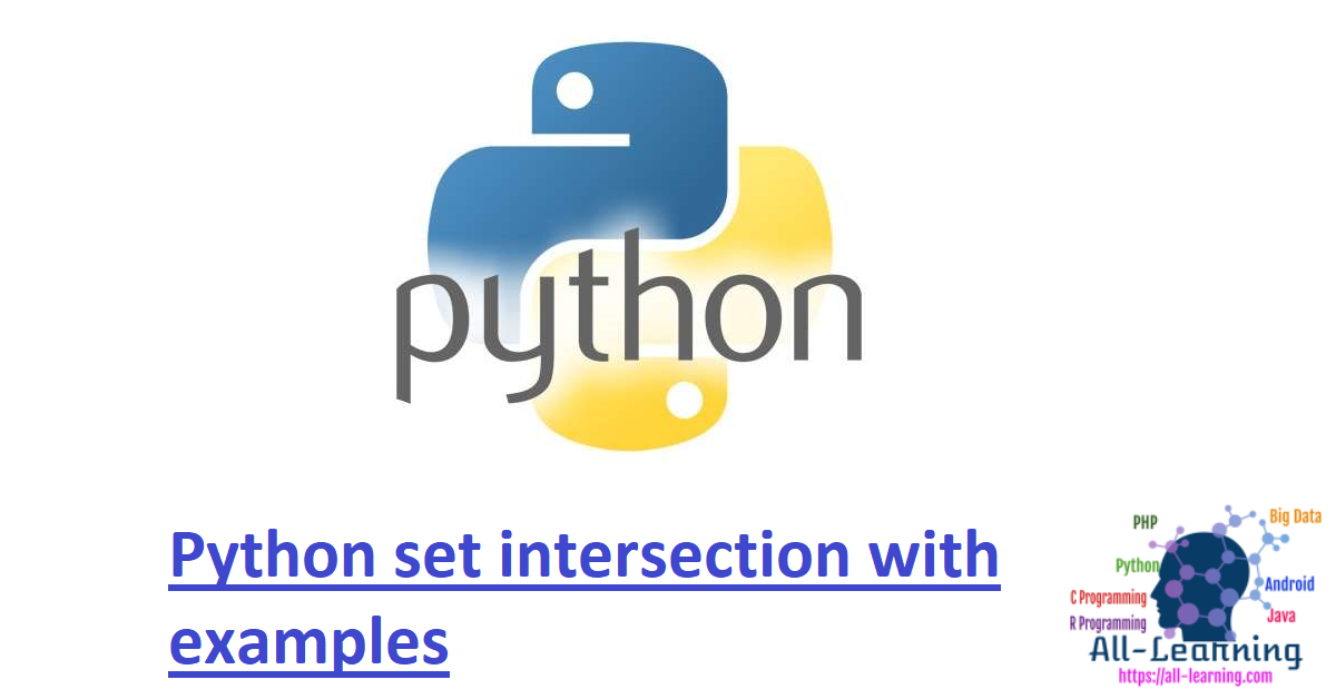 Python set intersection with examples