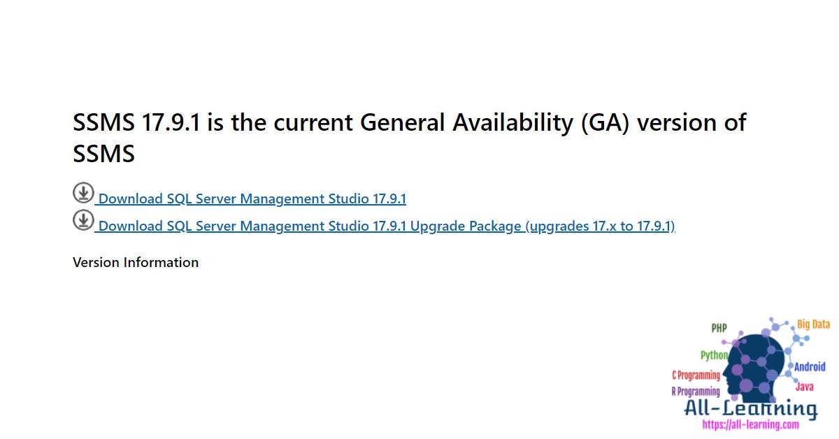 SQL_Server_Management_Studio_Download_Link