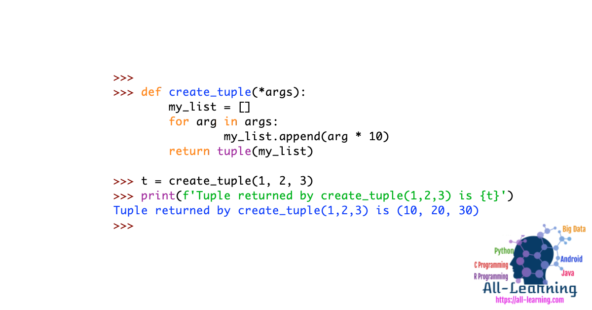 Python Function Return Tuple