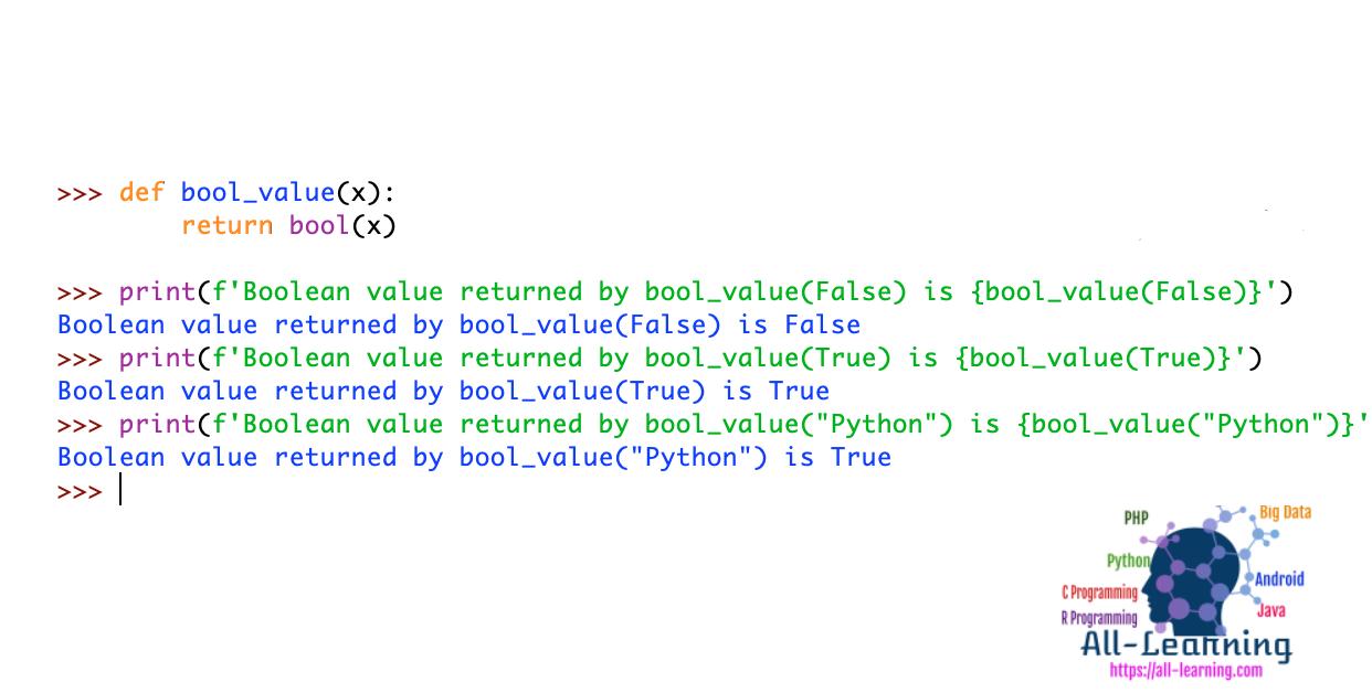 Python Return Boolean