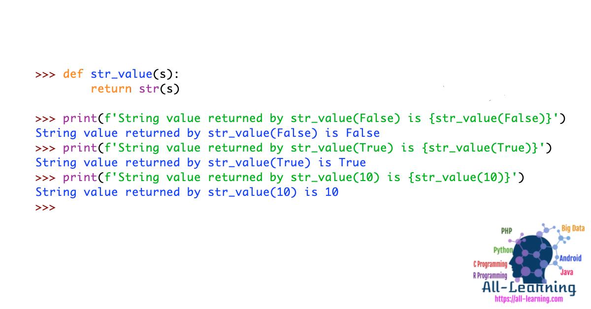 Python Return String