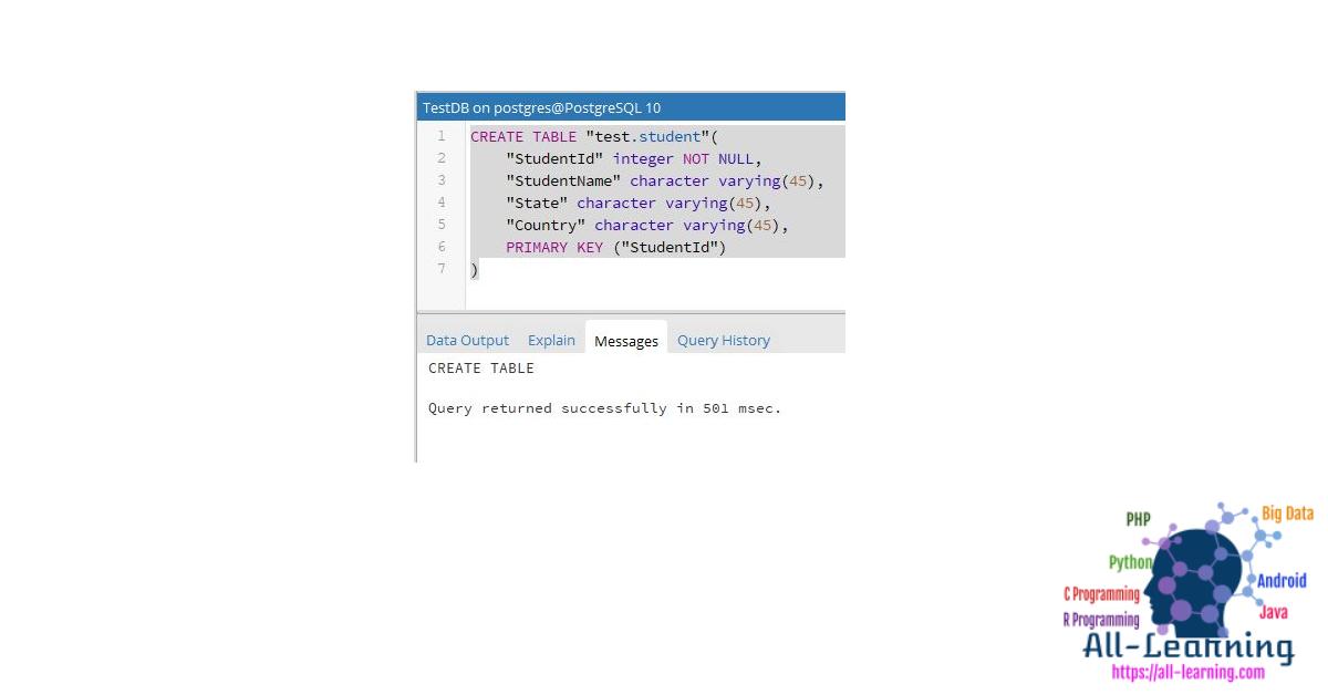 SQL-Create-Table-on-PostgreSQL