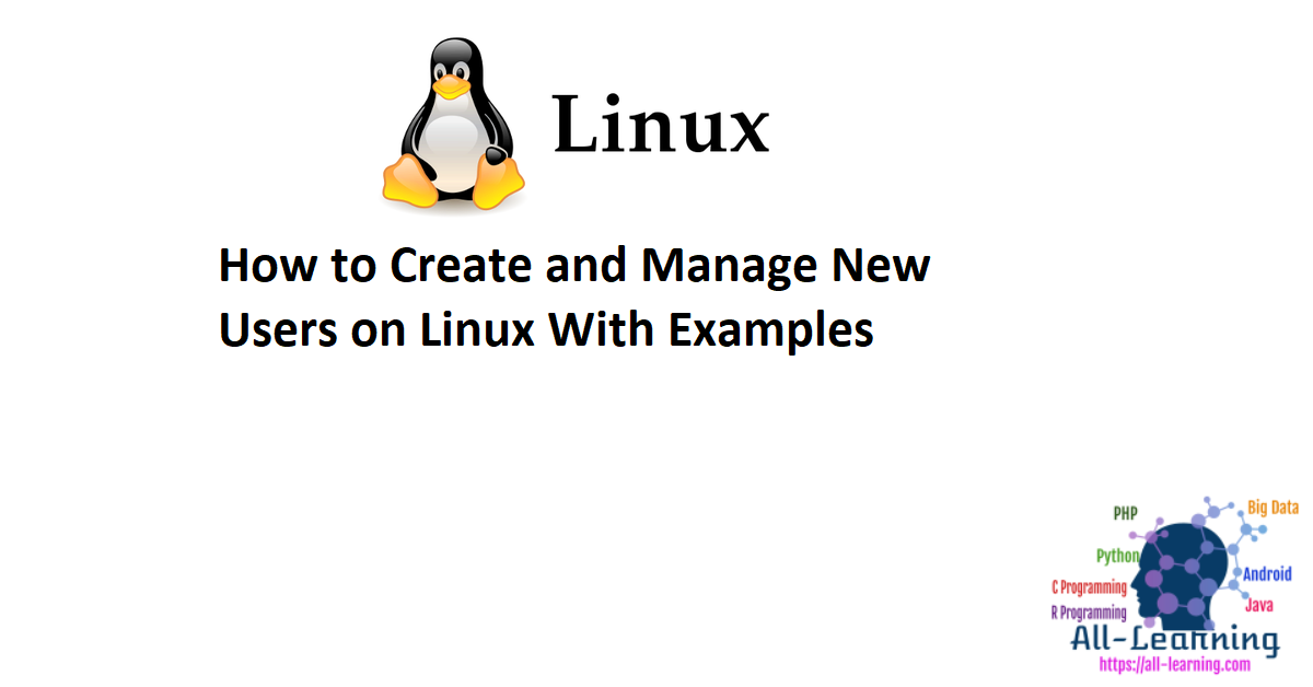How to Create and Manage New Users on Linux With Examples