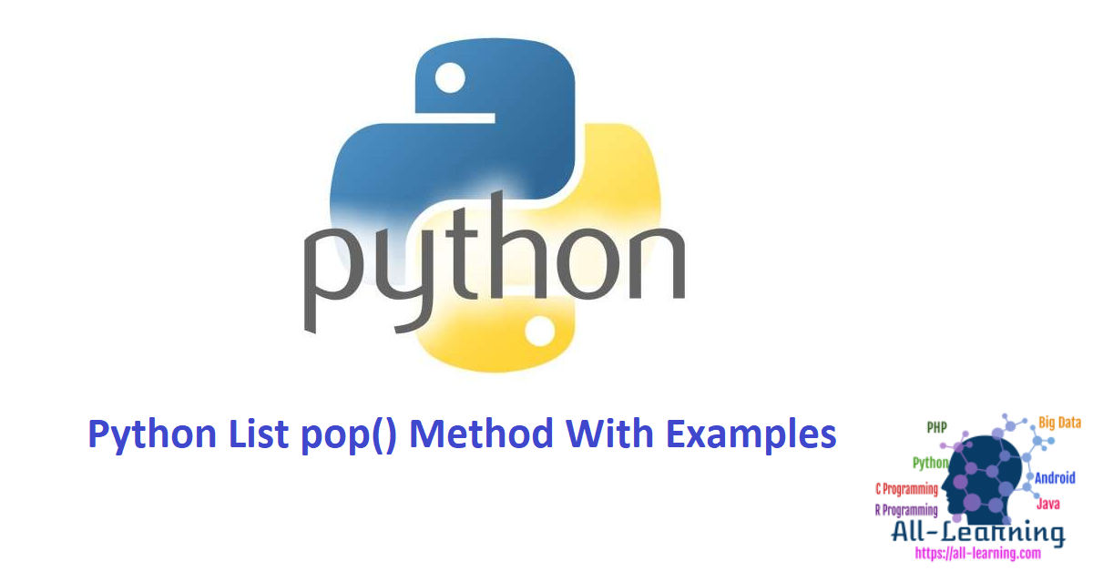 Python List pop() Method With Examples