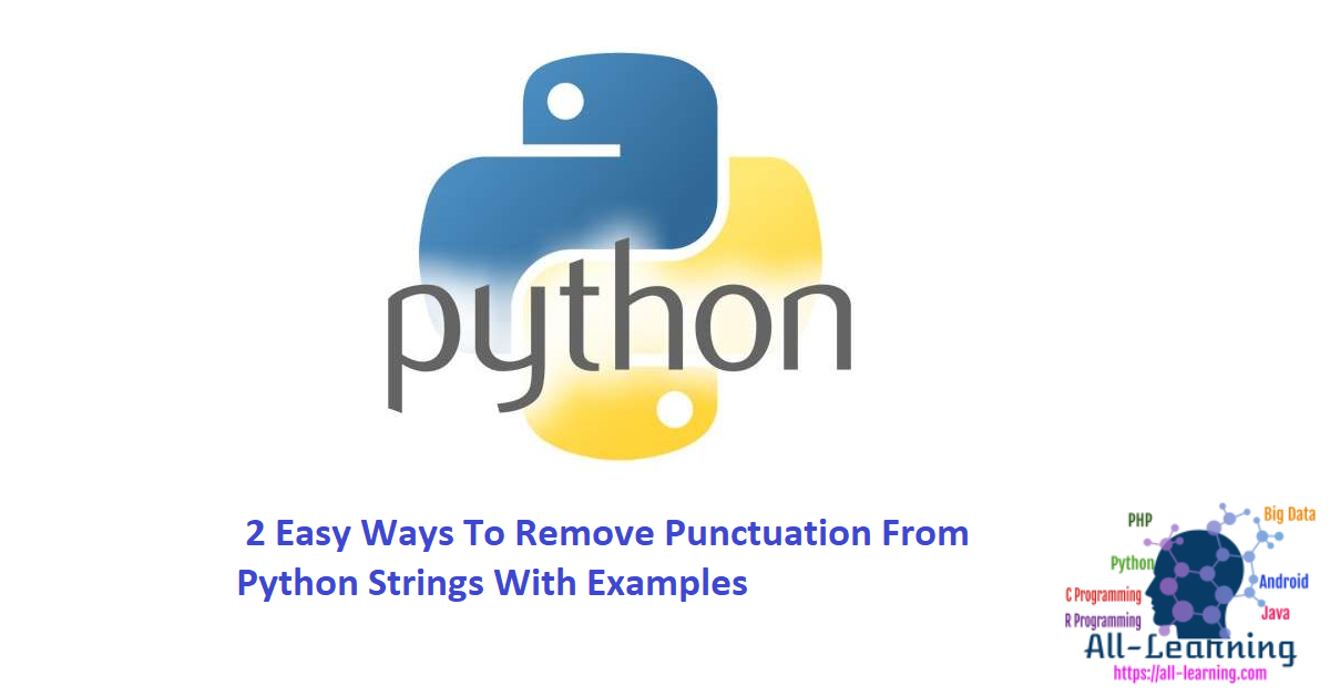 2 Easy Ways To Remove Punctuation From Python Strings With Examples
